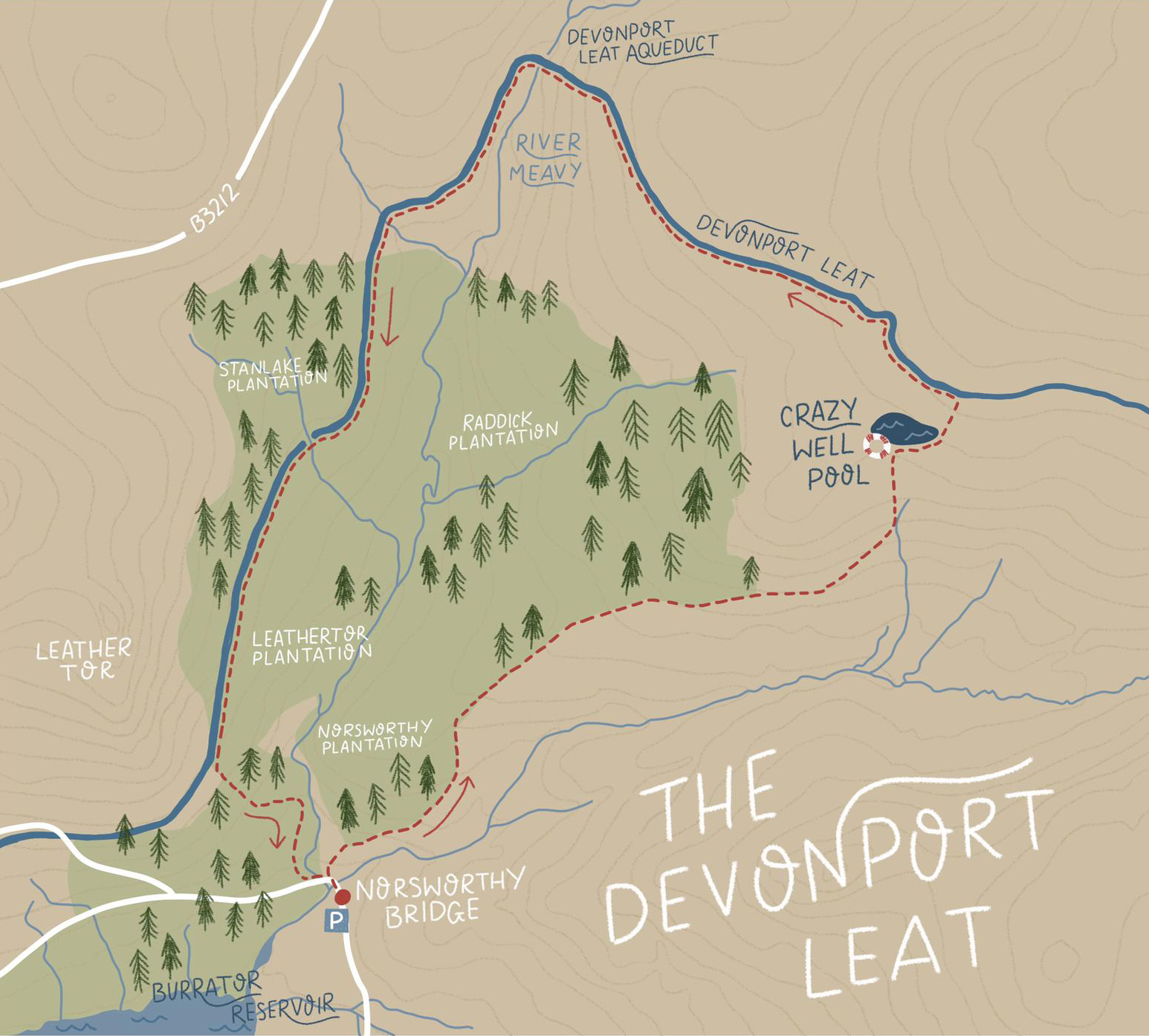 Devonport Leat Route   Paws and Tors